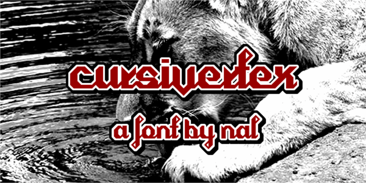 Cursivertex Font animal mammal
