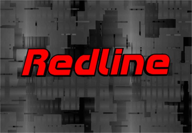 Redline Font screenshot sign