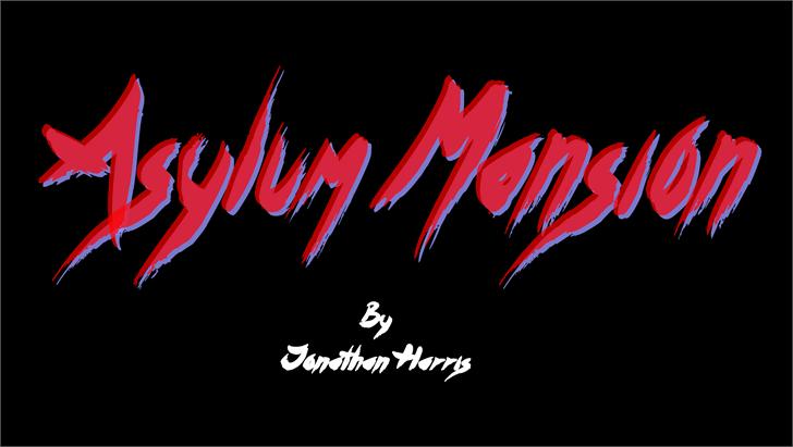 Asylum Mansion Font design typography