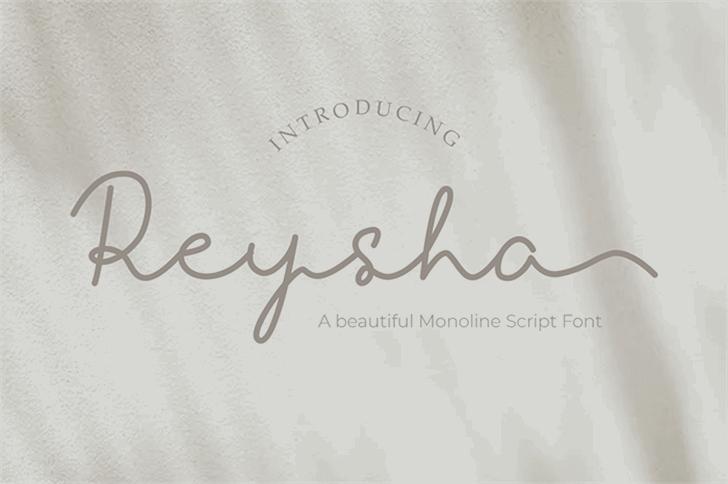Reysha Font poster