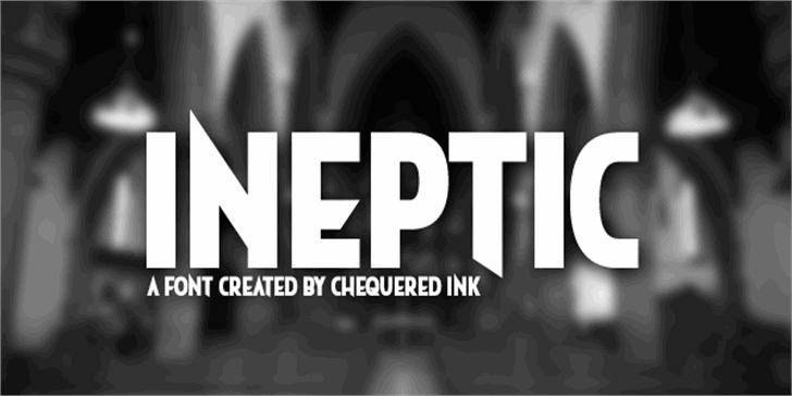 Ineptic Font screenshot design