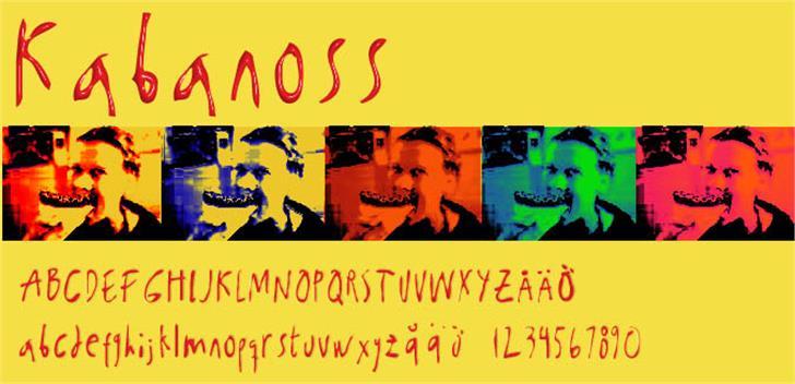 Kabanoss Font poster text