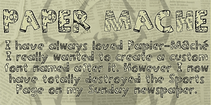 Paper-Mache font by SpideRaYsfoNtS