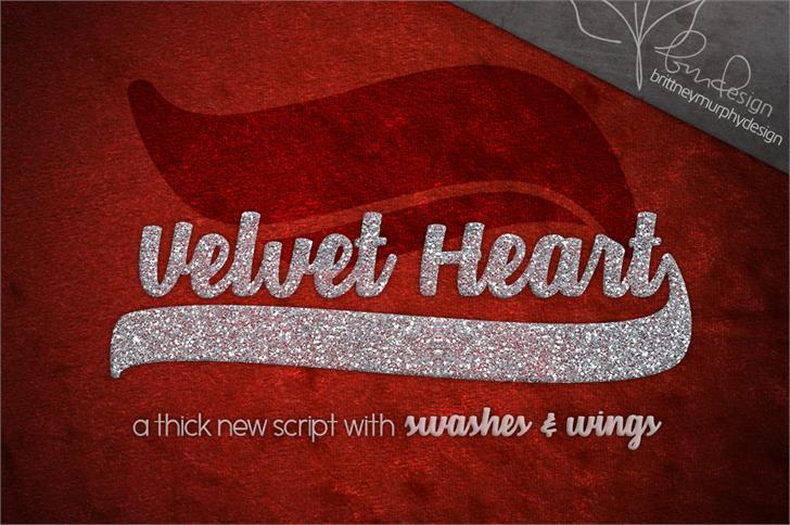 Velvet Heart*  Font text maroon