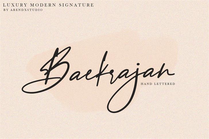 Baekrajan Font poster