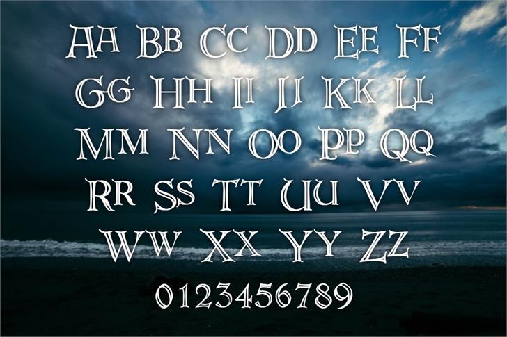 DeRoos Font poster