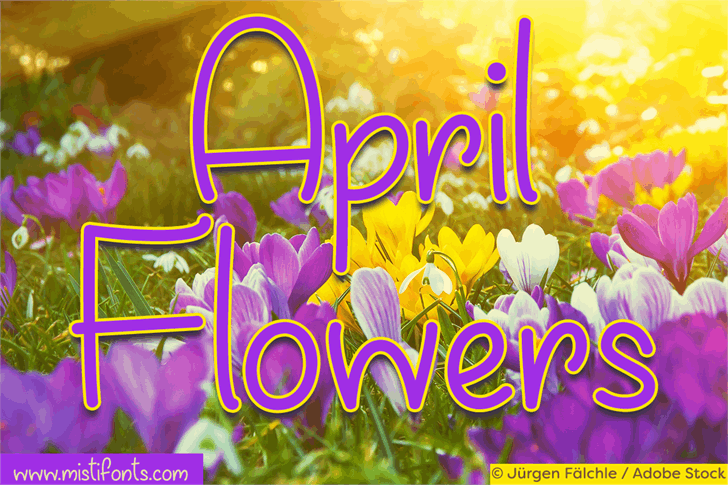 April Flowers Font screenshot colorful