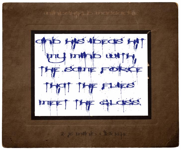 Windshield Massacre Font handwriting mounted