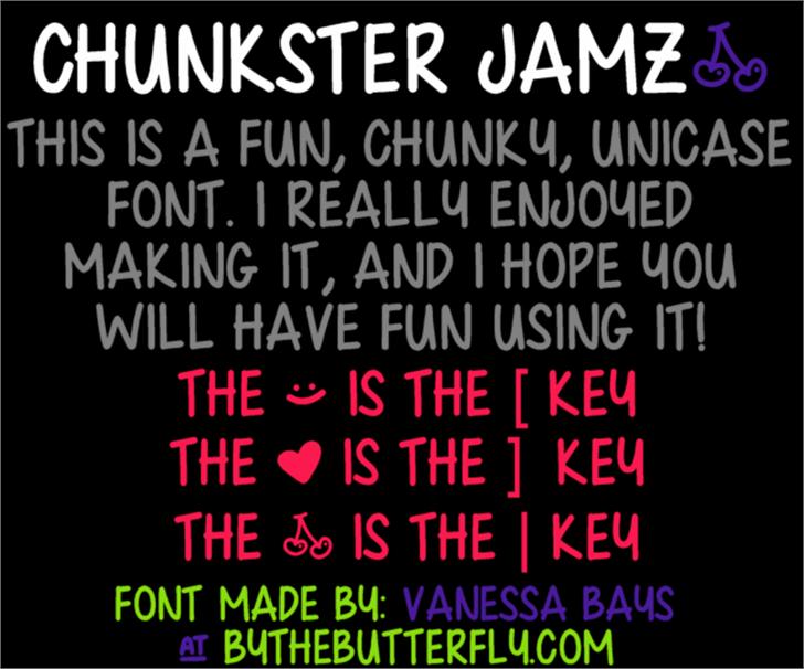 Chunkster Jamz Font screenshot text