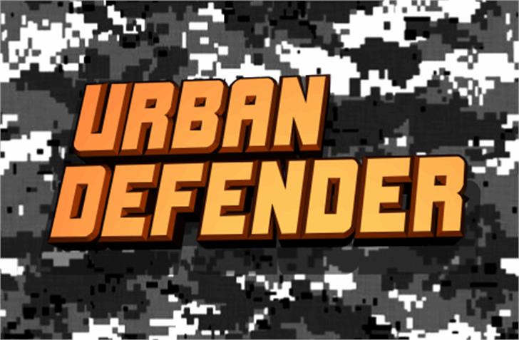 Urban Defender Font screenshot poster