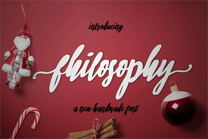 philosophy Font design text