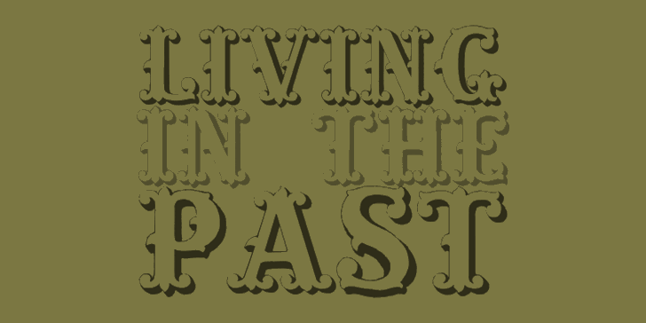 Living in the Past Font handwriting typography