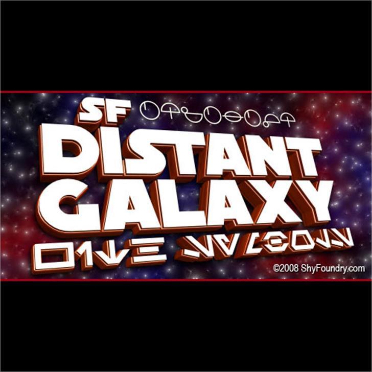 SF Distant Galaxy font by ShyFoundry