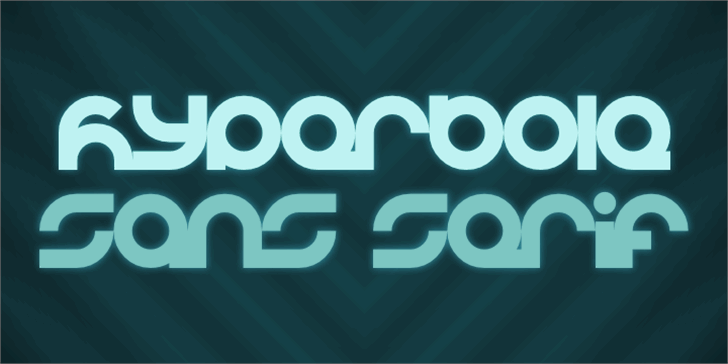 Hyperbole Font screenshot design
