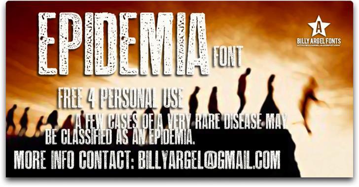 EPIDEMIA Font poster text