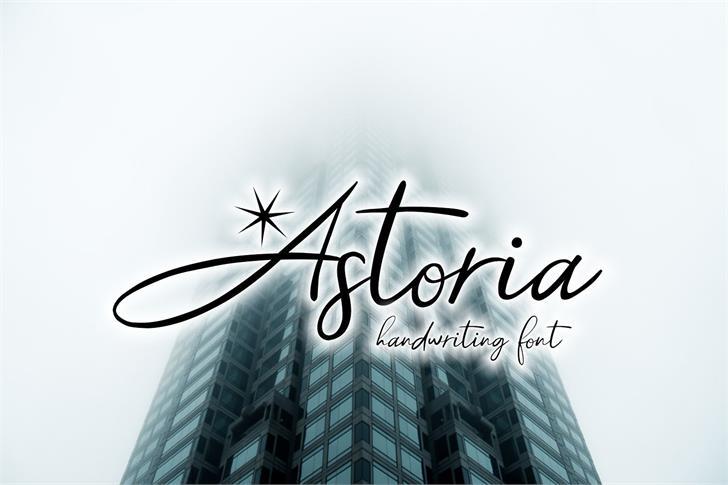 Astoria Demo Font sky