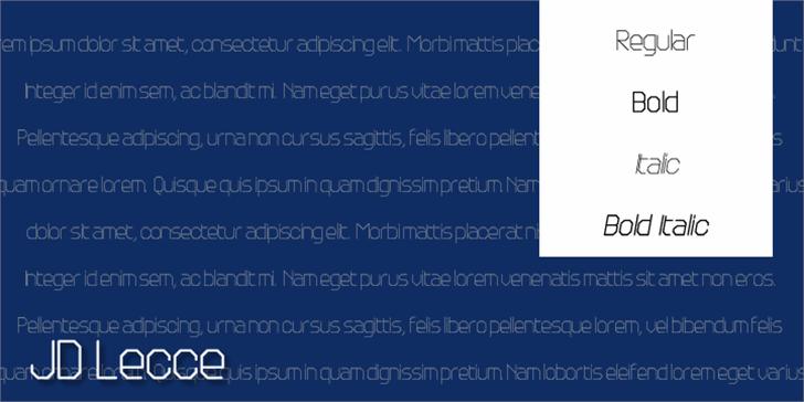 JD Lecce Font screenshot text