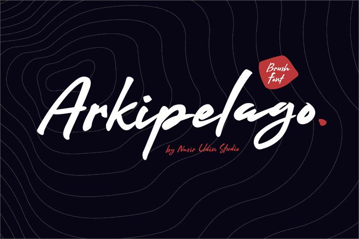 Arkipelago Font design typography