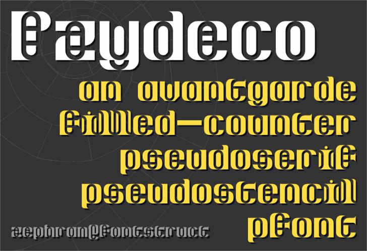 Pzydeco Font screenshot poster