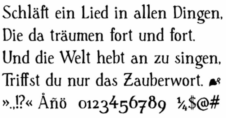 Handserif Font screenshot font