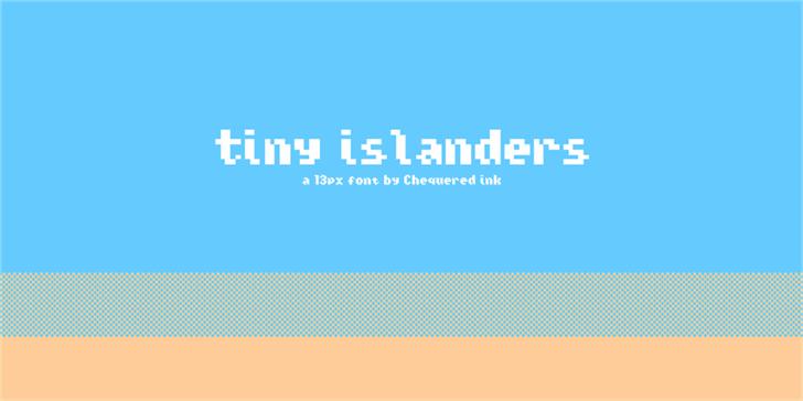 Tiny Islanders Font design graphic