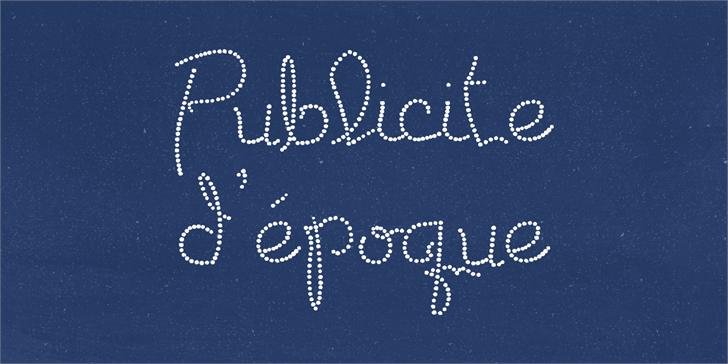 Publicite d'epoque basic Font text