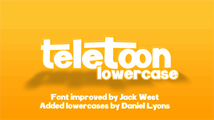 Teletoon Lowercase Font design screenshot