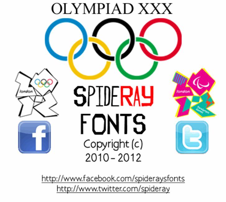 OLYMPIAD XXX Font design screenshot