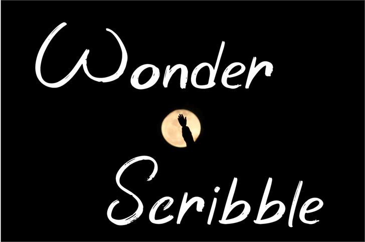 Wonder Scribble Font design text