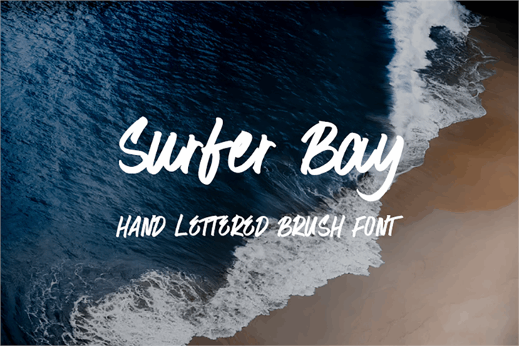 Surfer Bay Font water beach