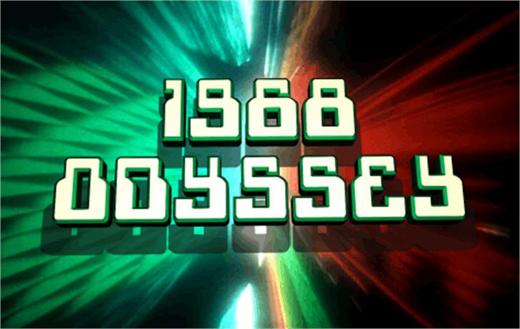 1968 Odyssey Font screenshot colorfulness