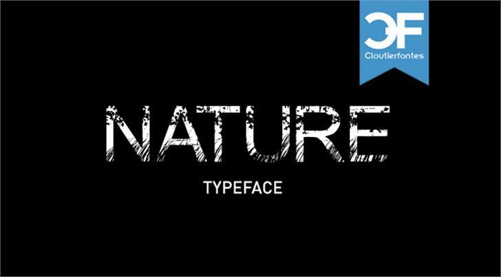 Nature Font design graphic