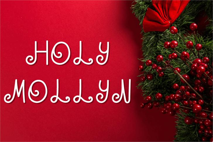 HOLY MOLLYN Font christmas tree tree