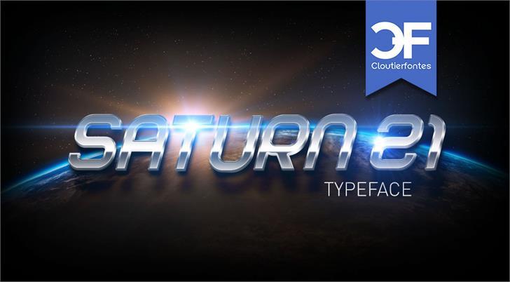 CF Saturn 21 PERSONAL Font poster