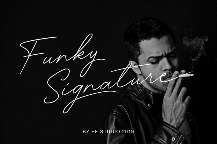 Funky Signature Font person