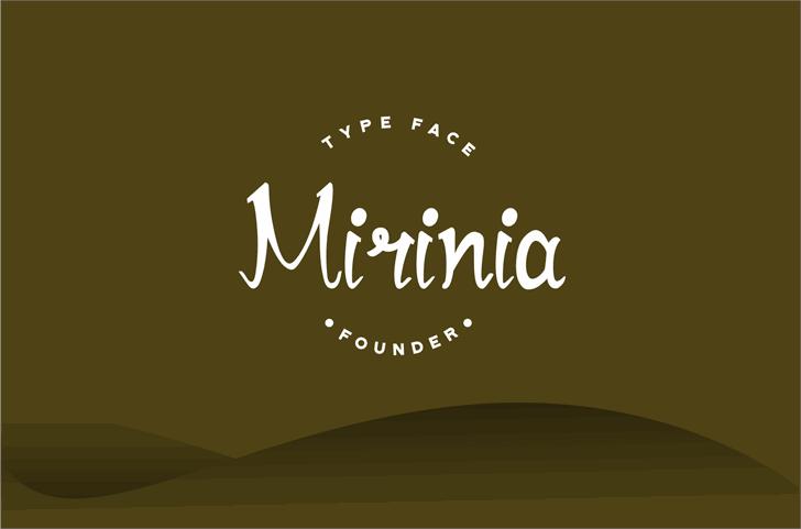 Mirinia Font design graphic