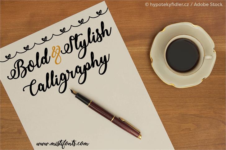 Bold  Stylish Calligraphy font by Misti's Fonts