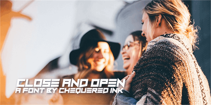 Close and Open Font person human face