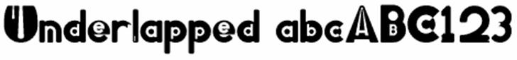 Underlapped Font design clipart