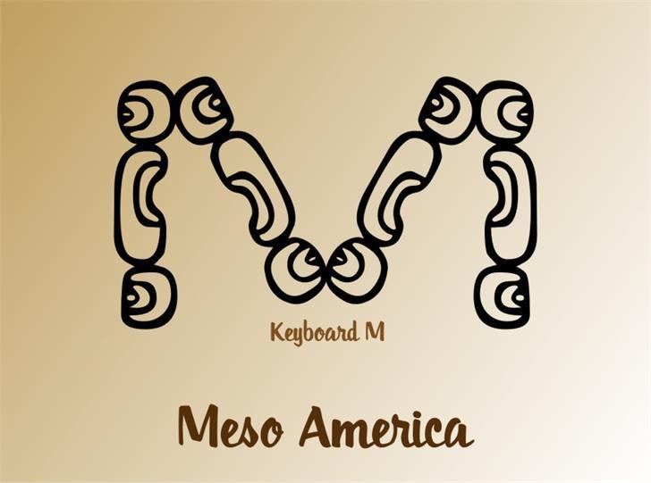 MesoAmerica Font cartoon drawing