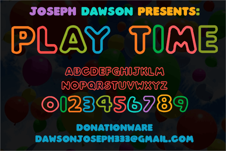 Play time font by Joseph Dawson
