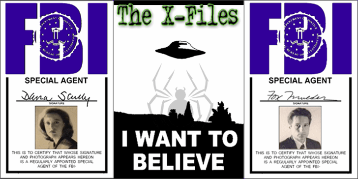 The X-Files Font poster cartoon