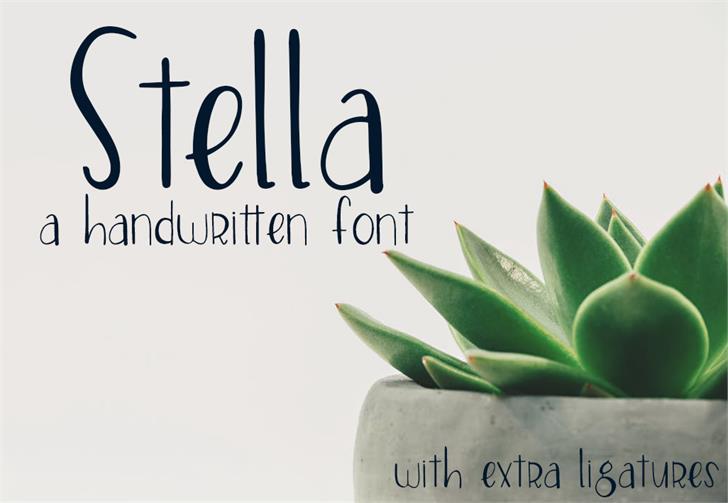 Stella Font design flower