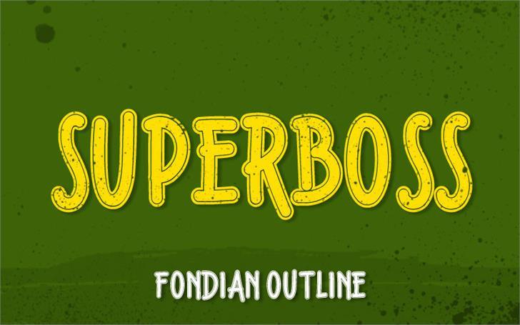 Fondian Outline Font design poster
