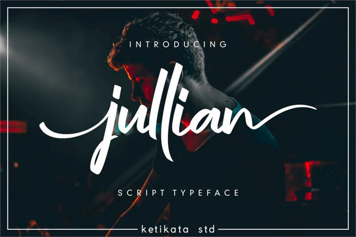 jullian Personal Use Only Font design screenshot