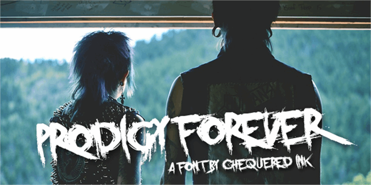 Prodigy Forever font by Chequered Ink