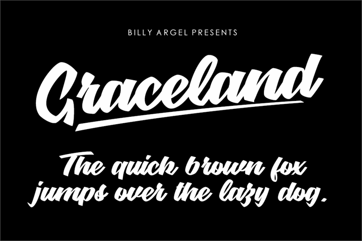 Graceland Personal Use Font design text
