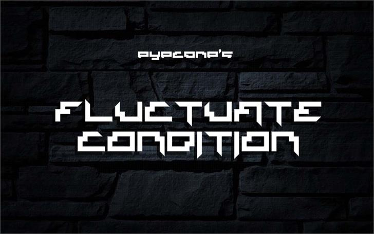 Fluctuate Condition Font building screenshot