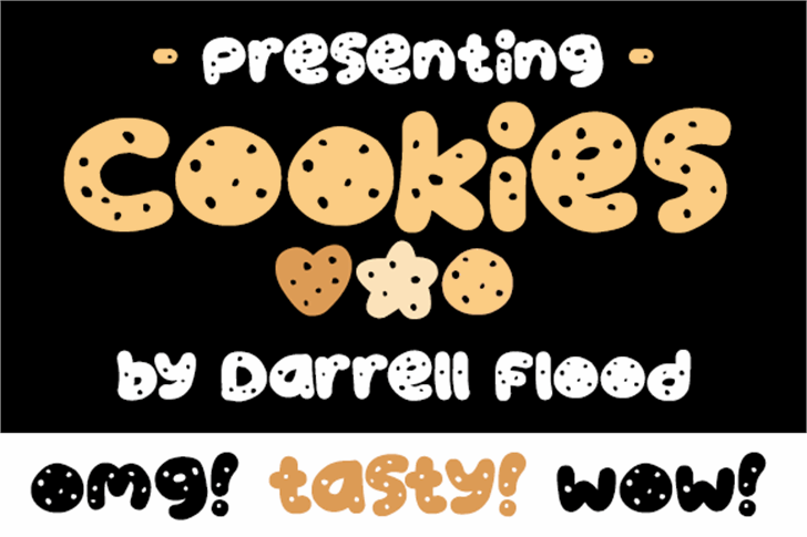 Cookies font by Darrell Flood