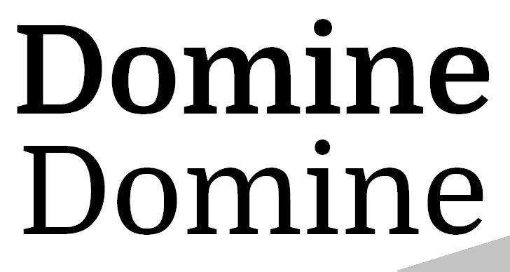 Domine Font design graphic
